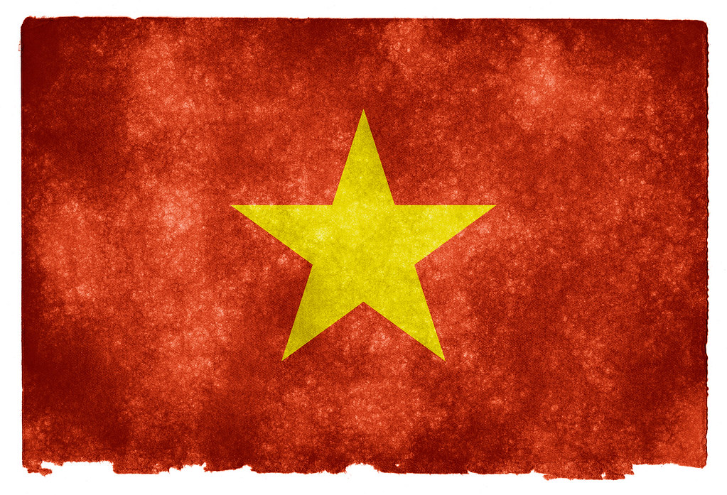 Vietnam Grunge Flag Grunge Textured Flag Of Vietnam On