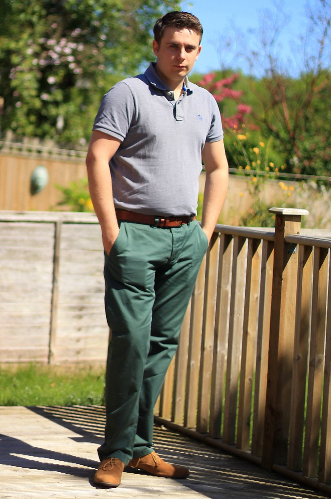 Ootd Outfit Of The Day Men 39 S Polo Shirt Green Chinos S