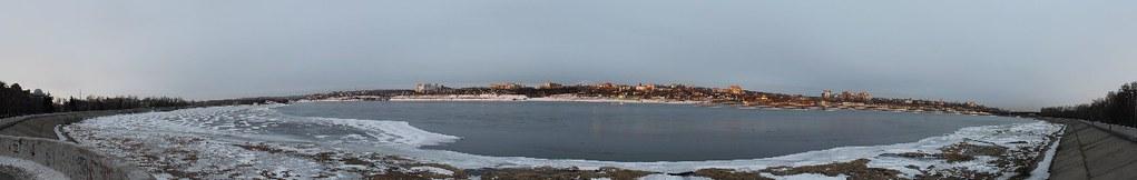 Angara river panorama