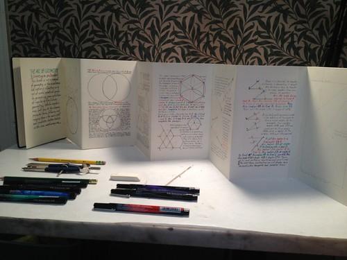 Geometry book: progress shots