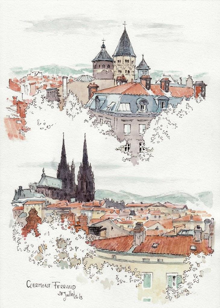 Vue de clermont ferrand pour l 39 anecdote les couleurs je - Abri de jardin sur mesure clermont ferrand ...