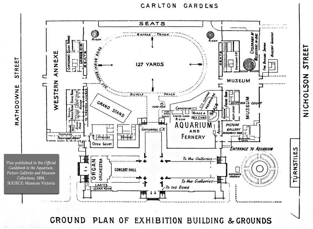Royal exhibition building site plan 1894 5 in series as for Blueprint builder free