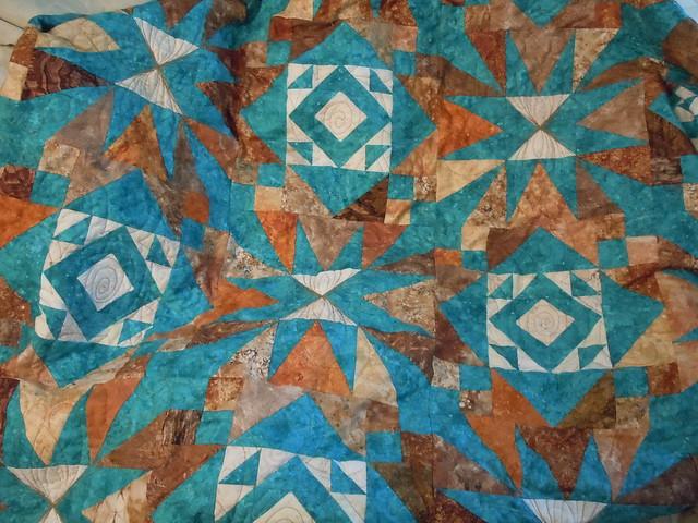 Desert Stars, engagement quilt