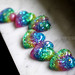 isewcute glitter hearts in bright pastel rainbow colors handmade resin jewels