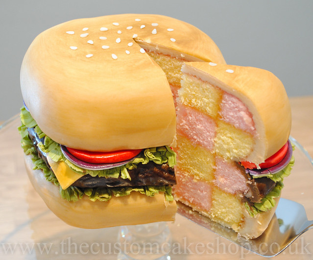 ... it s like a themed birthday cake it isn t meant to be a giant burger