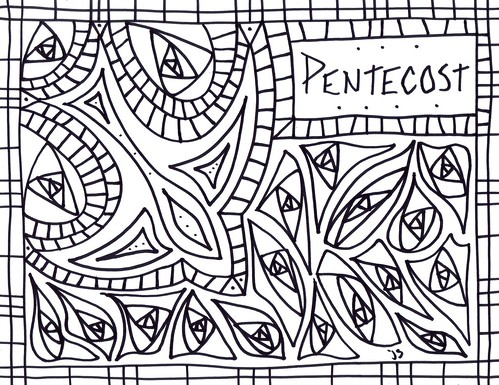 Pentecost coloring page stushie art for Pentecost coloring pages