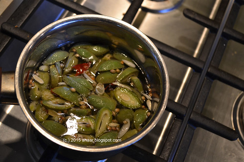 Green almond pickle