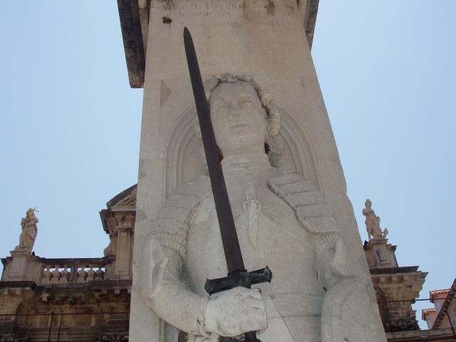 La columna de Orlando en Dubrovnik (Croacia)