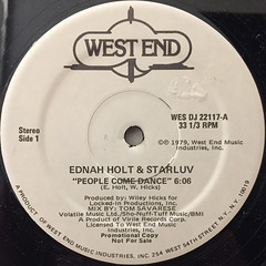 EDNA HOLT & STARLUV:PEOPLE COME DANCE(LABEL SIDE-B)