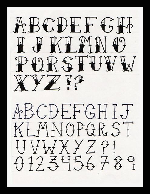 Old School Tattoo Alphabet Flickr Photo Sharing