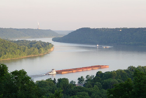 Barges on the Ohio | by lady_elsinore