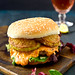 The Southern: Pimento Cheese burger with Fried Green Tomatoes