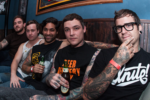 Amity Affliction: Pre-Game Candid