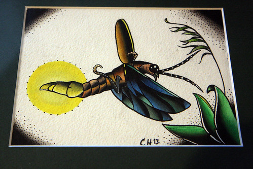Lightning bug painting - photo#6