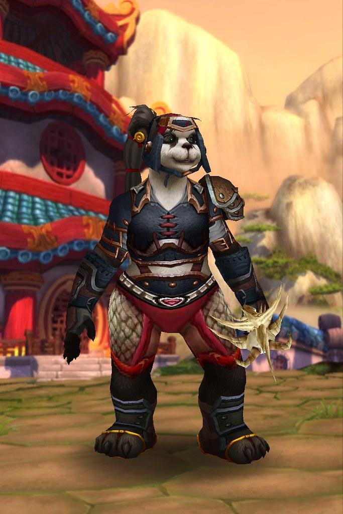 Wye Pandaren Hunter Head Spearhead Helm Shoulder