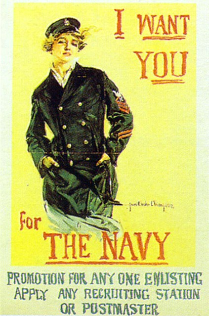 World War II Poster - I Want You For The Navy