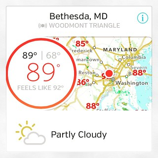 Ugh, why is it so hot in mid-May?! Apparently, DC had the highest temps in the country around noon.