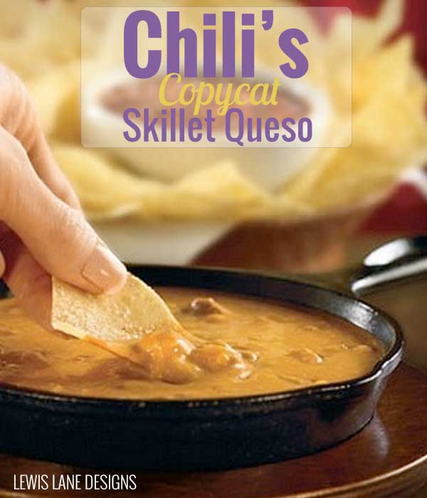 Chili's Copycat Skillet Queso by Lewis Lane