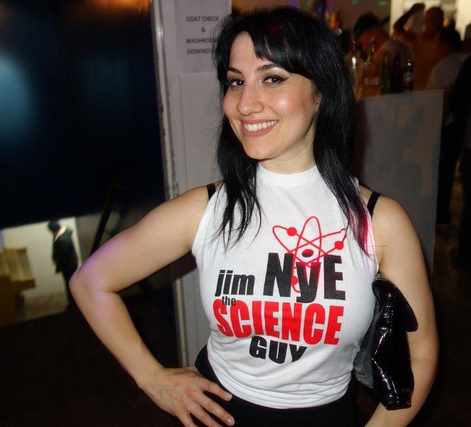 Jim Nye science guy fan girl at Hogtown Wrestling show