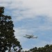 Shuttle Discovery over the Capitol Grounds