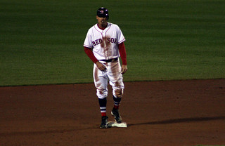 Middlebrooks after sliding into second | by ConfessionalPoet