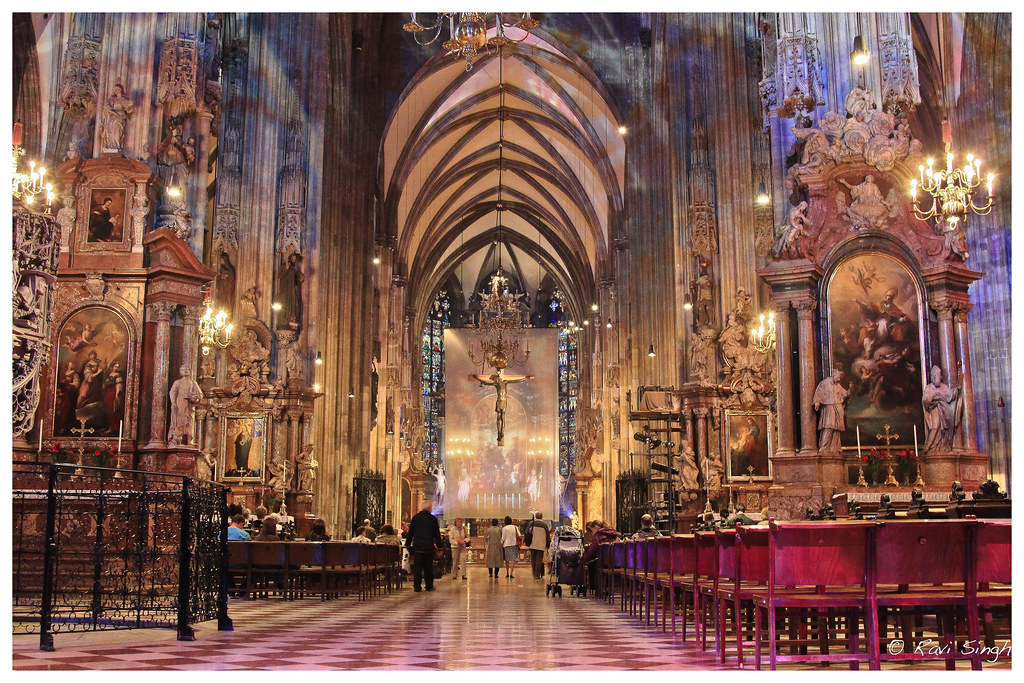 St Stephens Church Vienna Inside Of The St Stephen S