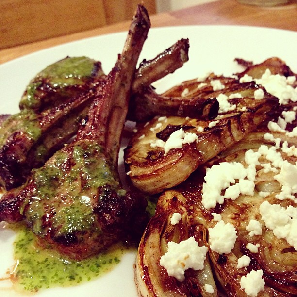I present to you: Lamb Chops with Cilantro Mint Sauce and ...