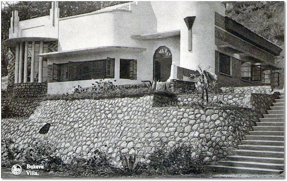 Une villa art d co bukavu date incertaine vers 1946 - Maison d artiste a visiter ...