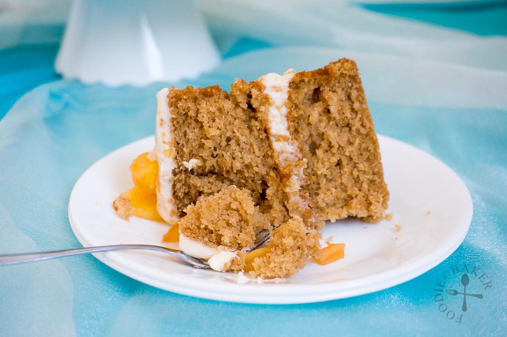 Peach Layered Cake with Peach-Vanilla Buttercream