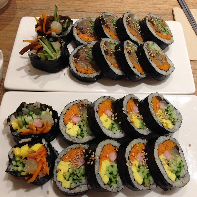 Gimbap (Korean rolls)