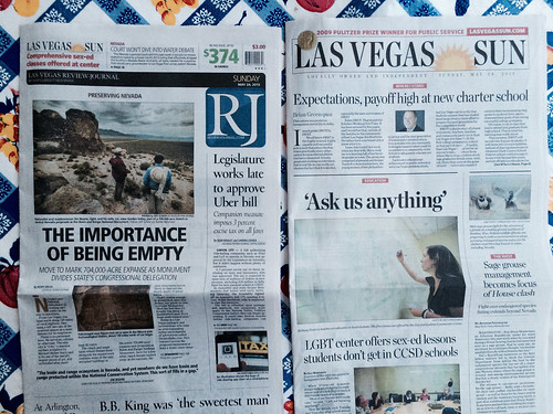 Vegas Front Pages: The Importance of Being Empty / Sage Grouse Management @reviewjournal @LasVegasSun @RefriedBrean @LasVegasSun