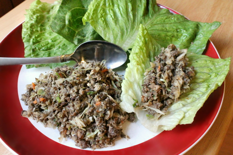 5:2 Turkey & Mushroom Lettuce Wraps (201 calories)