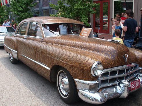 1949 Cadillac Covered With Cents