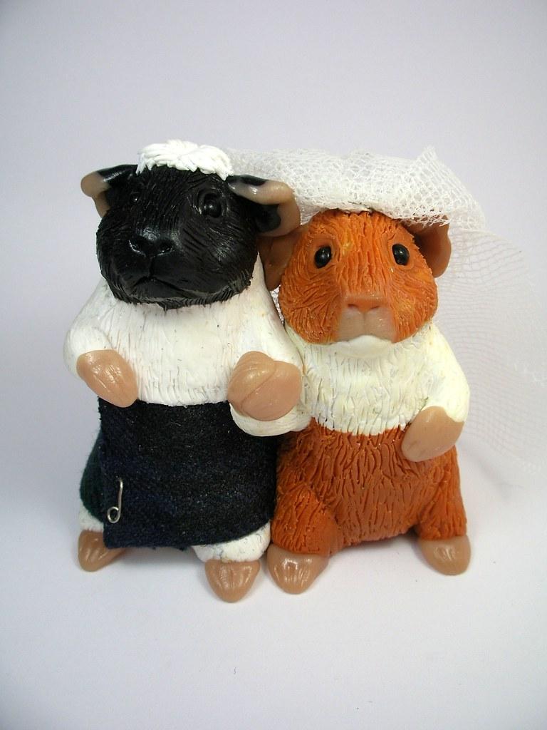 Guinea Pig Wedding Cake Toppers