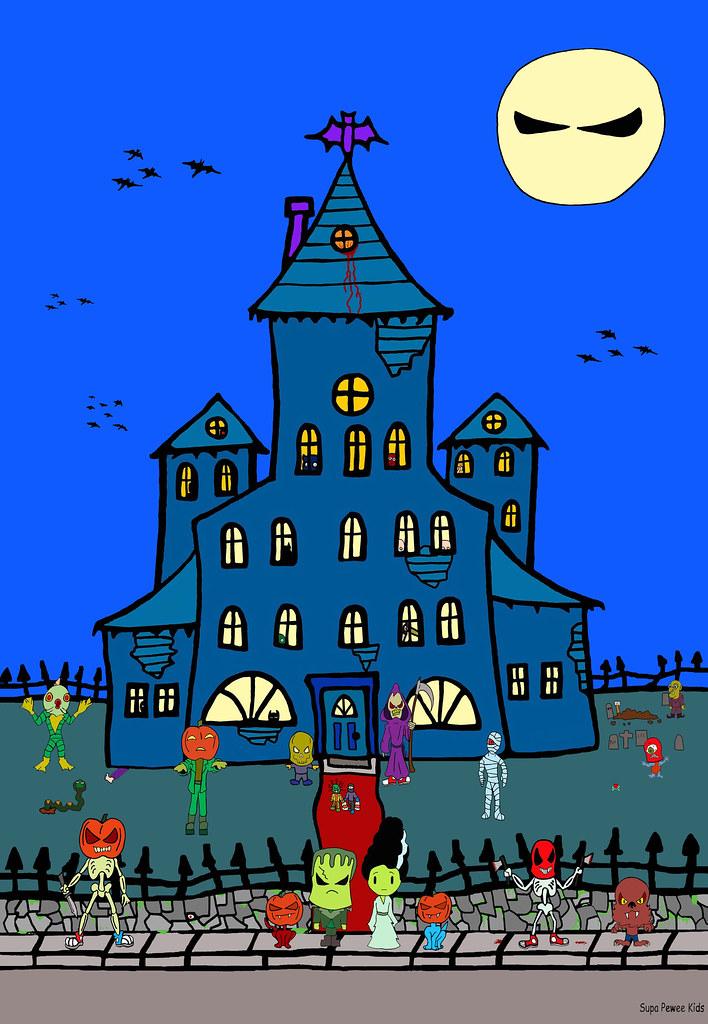 Super Pee Wee Happy Halloween Werewolf Anime Frankenstein