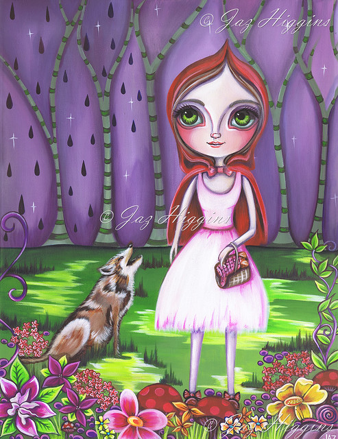 """Little Red Riding Hood"" Original Painting by Jaz Higgins"