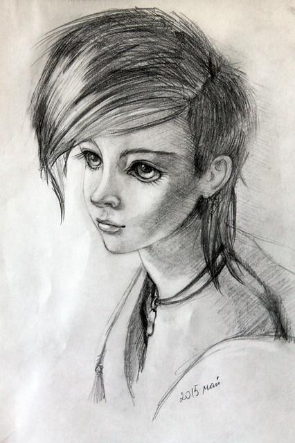 Icaac (pencil drawing)