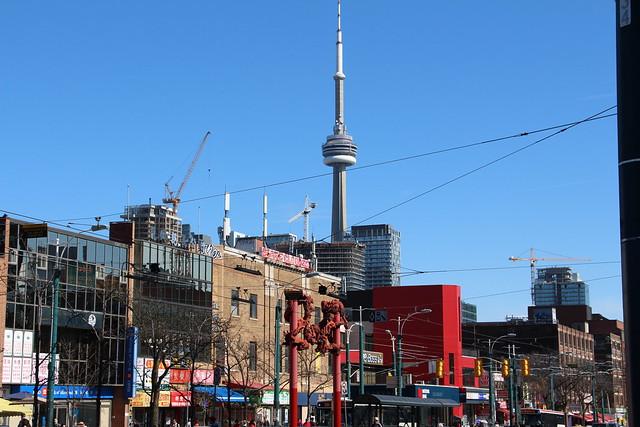 Toronto Chinatown CN Tower