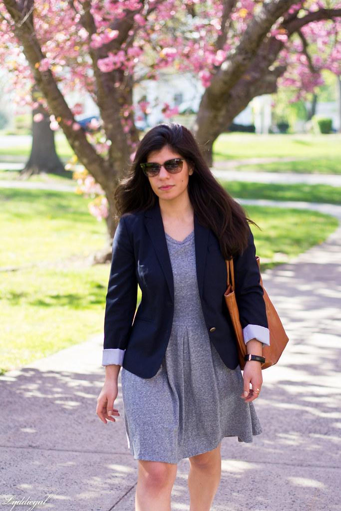 grey sweatshirt dress, navy blazer, white converse-3.jpg