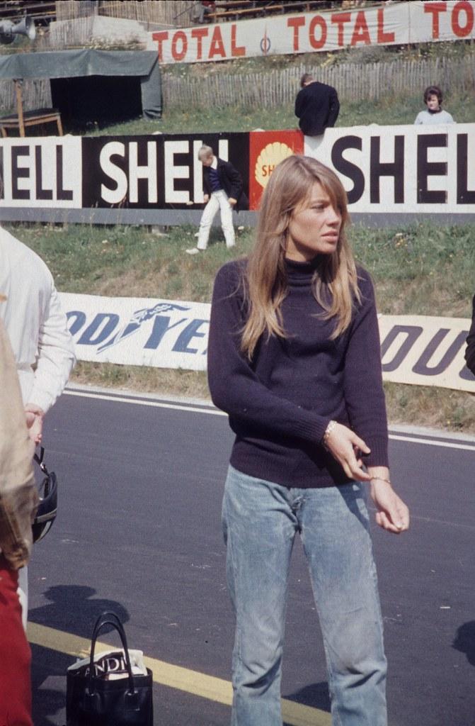 1966 Royat Tournage Du Film Quot Grand Prix Quot Fran 231 Oise Hardy