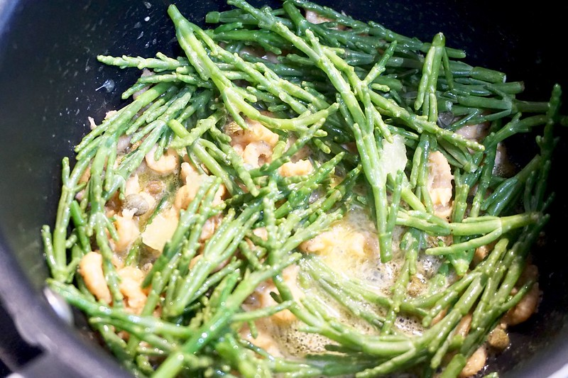 samphire shrimp sauce
