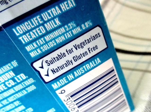 Devondale milk gluten free