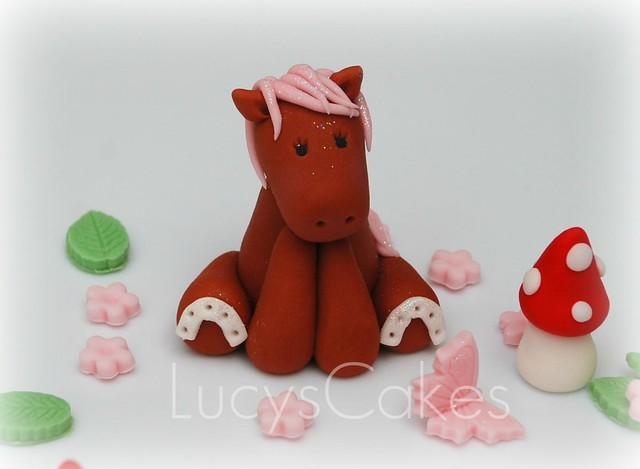 pony horse cake topper birthday christening Flickr ...