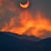 Annular eclipse seen through smoke from the Arizona wild fires