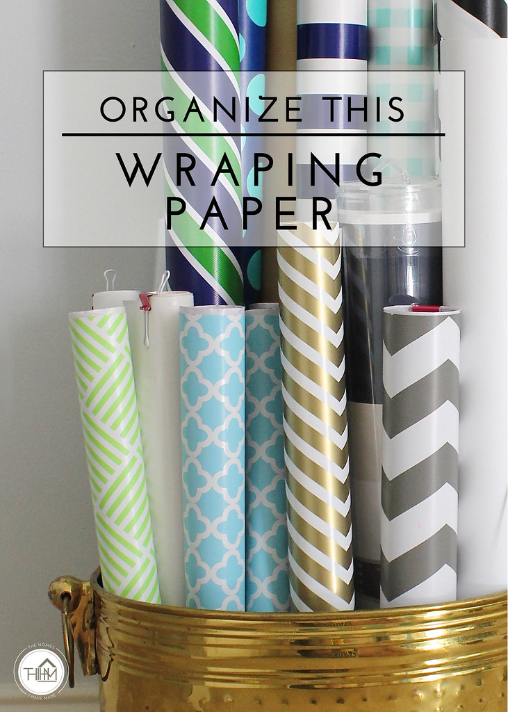 Organize This: Wrapping Paper