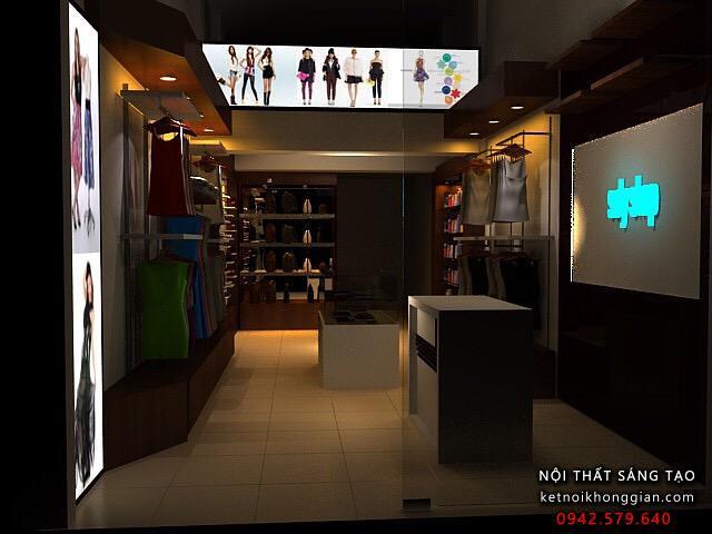 thiết kế cửa hàng thời trang Suly