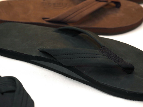 Rainbow Sandals / Single Layer Premier Leather