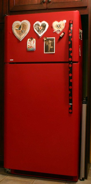 Red Refrigerator Flickr Photo Sharing