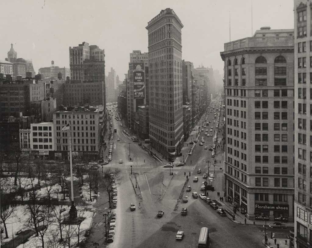 New York N Y 1955 Cityscape With Flatiron Building