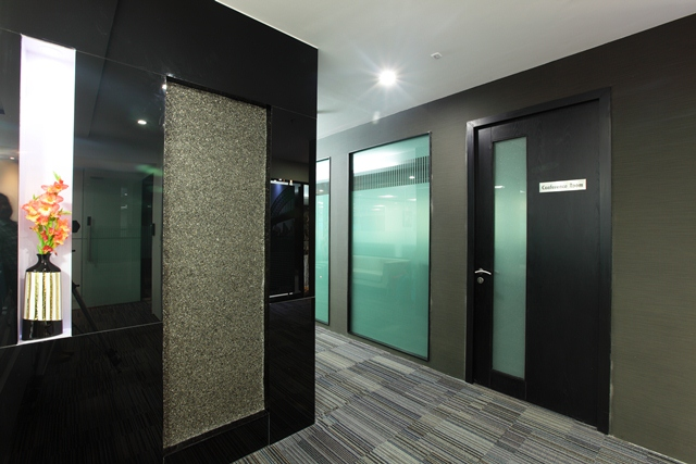 Wall Paneling Designs For Office : Coloured glass from sgg planilaque evolution black flickr
